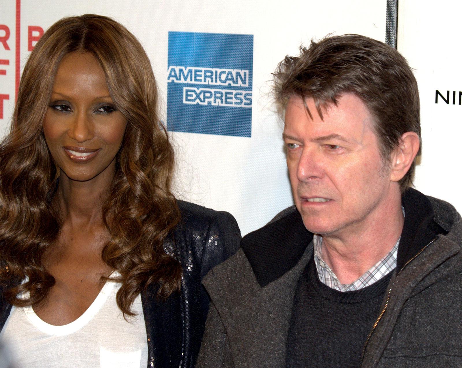 David Bowie s manželkou Iman svetoznámou modelkou