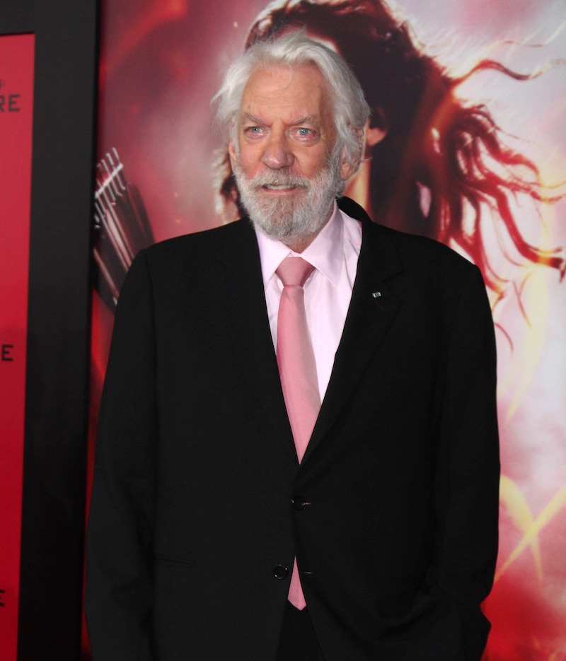 Donald Sutherland na premiére Hunger Games v Los Angeles (2011)