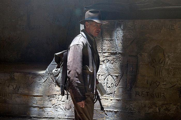 Harrison Ford vo filme Indiana Jones a Kráľovstvo krištáľovej lebky (2008)