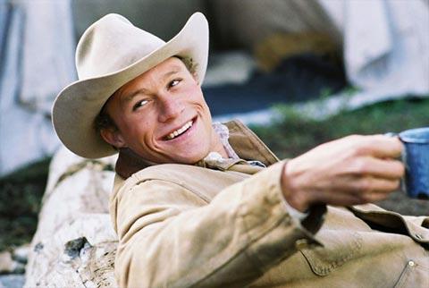Heath Ledger vo filme Skrotená hora (2005)