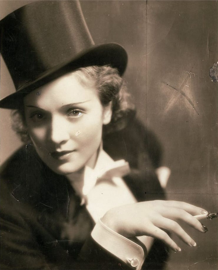 Marlene Dietrich vo filme Morocco (1930)